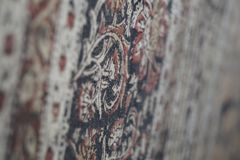 A magical Carpet by the wall stock photography