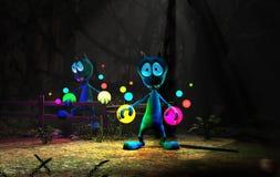 Magical cartoon alien character Stock Photo