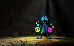 Magical cartoon alien character Stock Photography