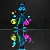 Magical cartoon alien character Stock Photos