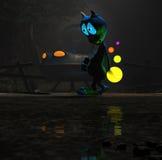 Magical cartoon alien character Royalty Free Stock Photos