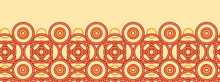 Magical celtic circles horizontal seamless pattern Royalty Free Stock Image