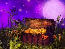 Magical  chest Royalty Free Stock Photos