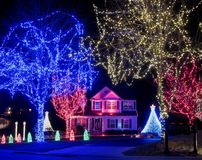 Magical Christmas Home Stock Photo