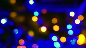 Magical Christmas light blur circles Background depth stock footage