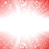 Magical Christmas star explosion Royalty Free Stock Photo