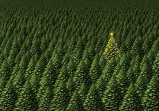 Magical Christmas Tree stock illustration