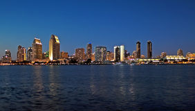 Magical city. Panorama of San Diego, California--Americas finest city at dusk Royalty Free Stock Photography