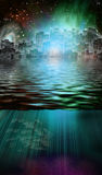Magical City. Fantasy City and Underwater Scene Stock Image