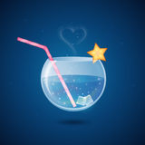 Magical cocktail drink royalty free stock images