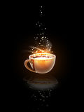 Magical coffee Royalty Free Stock Photography