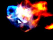 Magical colors of gas flame stock images