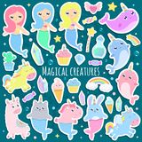 Magical creatures. stock illustration