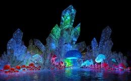 Magical crystals and mushrooms Royalty Free Stock Photo