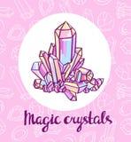 Magical crystals.  Vector illustration. Stock Photos