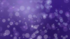 Magical dark purple glowing bokeh background stock footage