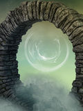 Magical door. In the sky with enchantment Stock Photography