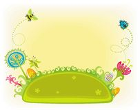 Magical Easter spring garden. stock illustration