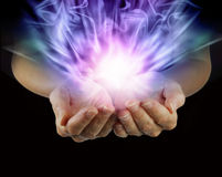 Magical Energy Formation Stock Image