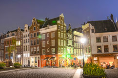Magical evening urban landscape in Amsterdam, Netherlands, Europ Stock Photography