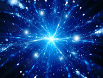 Magical explosion of big data in space Stock Image