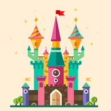 Magical fabulous cartoon castle Stock Photo