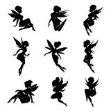 Magical fairies in the cartoon style. Stock Photos