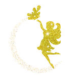 Magical fairy with dust glitters. On white background Royalty Free Stock Image
