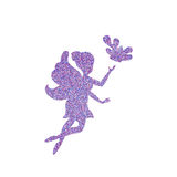 Magical fairy with dust glitters. On white background Royalty Free Stock Photos