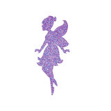 Magical fairy with dust glitters. On white background Royalty Free Stock Images