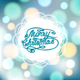 Magical festive background with bright lights. And ornate lettering Stock Photography