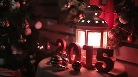 Magical and festive composition for the new year stock footage