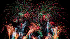 Magical Fireworks background Royalty Free Stock Photo