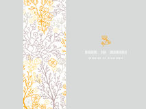 Magical floral horizontal frame seamless pattern background Royalty Free Stock Image