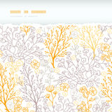 Magical floral horizontal torn seamless pattern Royalty Free Stock Image