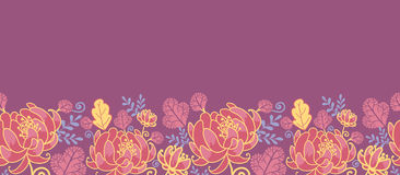 Magical flowers horizontal seamless pattern Royalty Free Stock Photography