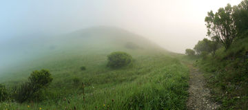 Magical Foggy Hills Royalty Free Stock Images