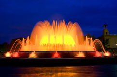 Magical fountain in Barcelona Stock Photography