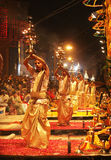 Magical Ganga aarti at varanasi Royalty Free Stock Photography