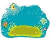 Magical garden royalty free illustration