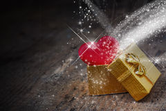 Magical gift in a box Royalty Free Stock Photography
