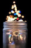 Magical Glass Jar Royalty Free Stock Photos