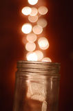 Magical Glass Jar Royalty Free Stock Images