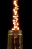 Magical Glass Jar Royalty Free Stock Photography