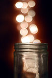 Magical Glass Jar Royalty Free Stock Photo