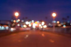 Magical glowing blurred out of focus background lights effect. Royalty Free Stock Image