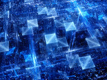 Magical glowing squares technology background Stock Photo