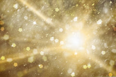 Magical golden color Christmas and New Year Holidays illustratio Stock Image