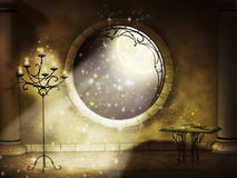 Magical gothic night. Illustration of magical gothic night stock illustration