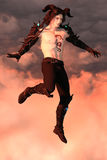 Magical guy in the sky Royalty Free Stock Images